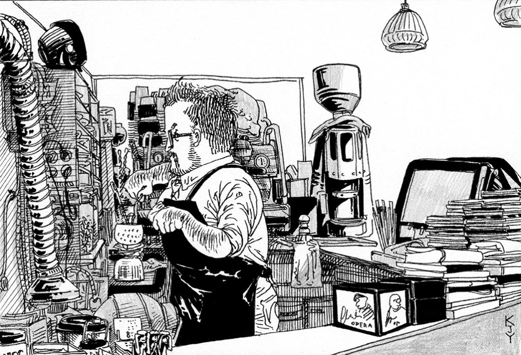 Silent bartender