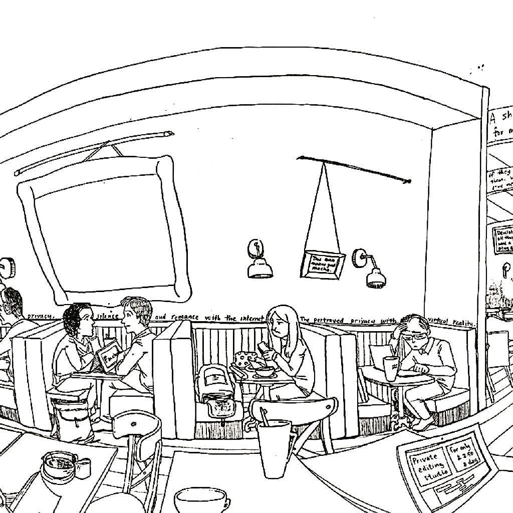 Cafe Korean Coloring Book Coloring Pages